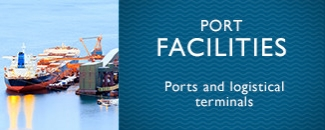 Fire protection in the industry of port facilities and logistical terminals